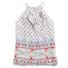 Stitch Fix Style | This Just In: Simpson Halter Blouse ... Love the pattern.couldnt do for work but perhaps concert wear?