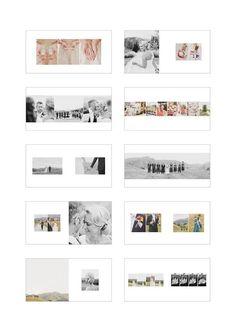 Square album, balanced with use of white space, creation of rectangular scenes Magazine Layout Design, Book Design Layout, Print Layout, Design Design, Graphic Design, Wedding Album Layout, Wedding Album Design, Wedding Photo Books, Wedding Photo Albums