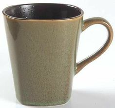 Home Trends Rave Green Square Collectible Stoneware Coffee Mug #315513