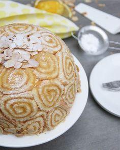 Citroen bombe met vanille, amandel en blondie bodem. Een echt show stuk voor op tafel. Heel geschikt om een heerlijk kerstdiner mee af te sluiten!
