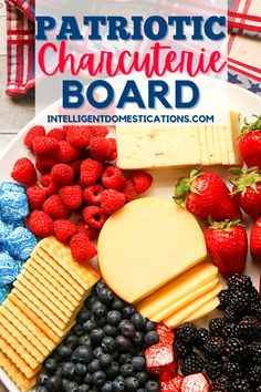 How to set up a Patriotic Charcuterie board. Tips for styling your cheese board. A list of food ideas for a charcuterie board. Ours is simple and inexpensive with a red white and blue theme. #charcuterie #cheeseboard Easy Dinner Recipes, Appetizer Recipes, Holiday Recipes, Easy Meals, Summer Recipes, Easy Recipes, Appetizers, Pork Recipes, Veggie Recipes