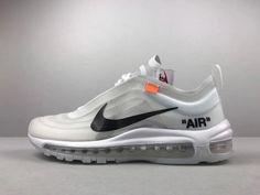 official photos 3484c 10b01 Size Euro 43 Unisex Off-White x Nike Air Max 97 Grey White Black Popular