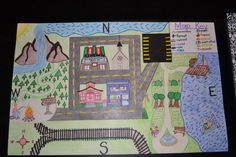 The map I made for my mapping unit while student teaching in 1st grade!! :)