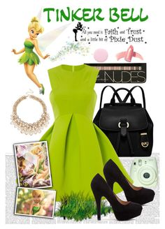 """Tinker Bell"" by veronica-babygirl-ruiz ❤ liked on Polyvore featuring MICHAEL Michael Kors, Fathead, Elizabeth Arden and Nails Inc."