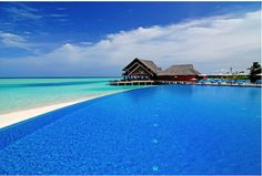 MALDIVES – Infinity pool at Anantara Dhigu Maldives Resort, Dhigu Island, South Malé Atoll, in the Indian Ocean. Vacation Places, Dream Vacations, Vacation Spots, Places To Travel, Places To Go, Visit Maldives, Maldives Resort, Places Around The World, Around The Worlds