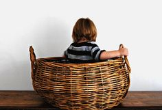 Extra Large Round Basket With Handles by tearinguphouses on Etsy