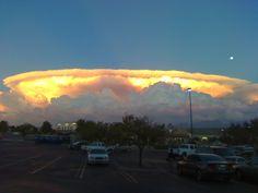 Giant cumulonimbus clouds or 'mushroom clouds'