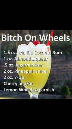 Mixed Drinks I'd Like To Try
