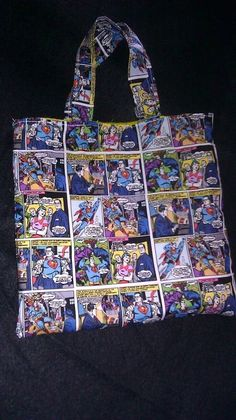 Superman Comics Boys Tote by tjantnesh on Etsy, $13.00
