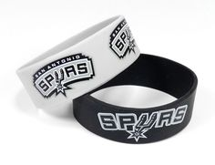 ~San Antonio Spurs Bracelets - 2 Pack Wide~ backorder