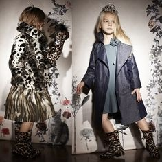 Lanvin Petite Winter 2013 animal print coats for girls