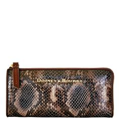 Dooney & Bourke | City Python Zip Clutch | The rich look of snakeskin adds a touch of the wild to the ladylike satchels in our City Python Collection.