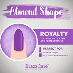 Almond Shape - Royalty: you are sofisticated and perfectionist. Brazzcare is per.- Almond Shape – Royalty: you are sofisticated and perfectionist. Brazzcare is ideal for Almond Shape – Find out! Care of this finger Stiletto Nails, Glitter Nails, Aesthetic Beauty, Professional Nails, Trendy Nails, Natural Nails, Christmas Nails, Nail Care, Summer Nails