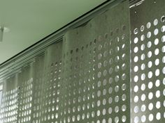 Wool Felt Perforated Panel Set modern curtains -- nice for a loft apartment