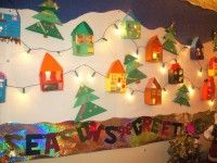 24 Christmas Bullet Board Ideas - for the classroom or a wall mural for the home
