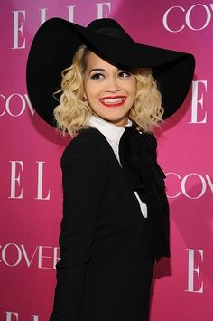 Rita Ora and her classic look of red lips and blonde curls