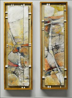 Fence Line, Encaustic, by Armin Mersman  - I've just GOT to try encaustic.