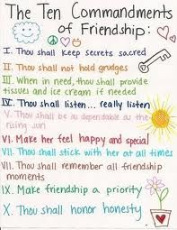 The Ten Commandments of Friendship