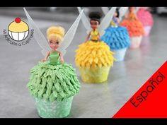 ¡CUPCAKES DE HADAS CAMPANITA! Cómo hacer Cupcakes de Campanita y sus Had...