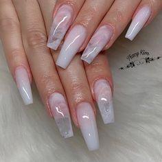Coffin acrylic nails are especially fancy with plenty of nail designs for fantastic manicure types. In fact, we've found enough nail designs that you'll be set all year. Clear Acrylic Nails, Summer Acrylic Nails, Acrylic Nail Designs, Clear Nail Designs, Clear Nails With Design, Acrylic Nails Maroon, Summer Nails, Clear Nail Tips, White Nail Designs