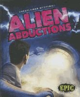 Engaging images accompany information about alien abductions. The combination of high-interest subject matter and light text is intended for students in grades 2 through 7