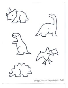 5 dinos clips and a great list of dinosaur day activities. The kids will love this.