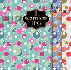 Seamless patterns with polka dots  by Futurel on @creativemarket