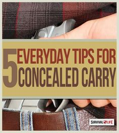 concealed carry tips, how to carry a concealed weapon, CCW and concealed handgun license tips