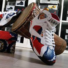 cewax.fr aime ces basket Jordan customisée en tissu pagne wax africain : https://www.facebook.com/La-Beaute-DU-Pagne-the-Beauty-of-African-Textiles-432798070192265/timeline/