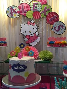 Fun Hello Kitty birthday party! See more party planning ideas at CatchMyParty.com!