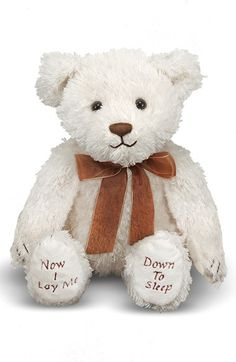 Free shipping and returns on Melissa & Doug Bedtime Prayer Bear at Nordstrom.com. Make bedtime prayers even more special with this plush teddy bear from Melissa & Doug. Press the bear's paws together to play a recorded prayer before your little one snuggles down to sleep.