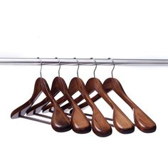 Ezihom Clothes Hangers Gugertree Wooden Suit Hangers with ExtraWide Shoulder Locking Bar Retro Finish Wood Coat Hangers Pant Hangers Wood Coat Hanger, Jacket Hanger, Suit Hangers, Clothes Hangers, Retro Color, Detox Tea, Kitchen Accessories, Birthday Shirts, Suits