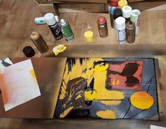 Stencil painting on reclaimed wood - http://artcave.eu/blog/stencil-painting-on-reclaimed-wood