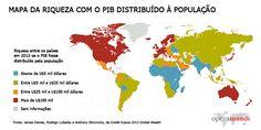 Mapa da desigualdade em 2013: 0,7% da população detém 41% da riqueza mundial - Ironia d'Estado