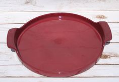 Dr. Douglas West Chase Marketing Inc. Stoneware Pizza Tray Pottery Serving Tray Mid Century by WhimsyChicEmporium on Etsy