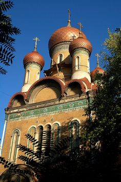 Bulgarian Church, Bucharest, Romania  by iancowe, via Flickr Religious Architecture, Unique Architecture, Around The World In 80 Days, Around The Worlds, Old Time Religion, Bucharest Romania, Cathedral Church, Christian Church, Place Of Worship