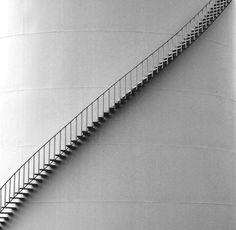 Single Tank Stairway by Ed Siasoco (aka SC Fiasco) Minimalist Architecture, Architecture Design, Stairs Architecture, Stairs To Heaven, Design Innovation, Take The Stairs, Stair Steps, Minimalist Photography, Stairways