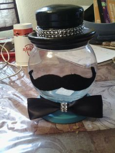 Mustache center piece I did for my son