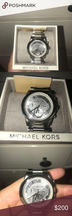 Michael Kors Silver Watch (BRAND NEW) Brand new never worn with box. KORS Michael Kors Jewelry