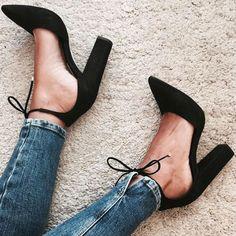 22020e0f54 Lttl moda chaussure femme sapatos de salto alto mulheres rendas até camurça  bombas Pontas Do Dedo Do Pé Sapatas de Vestido Calcanhar Robusto 2017  Sapatas do ...