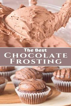 #Chocolate #simple #recipe buttercream ingredients chocolate frosting cupcakes minutes classic cookies filling recipe simple fluffy cakes light made This light and fluffy chocolate buttercream frosting is a simple and classic frosting for cakes andThis light and fluffy chocolate buttercream frosting is a simple and classic frosting for cakes and cupcakes and filling for cookies Plus with only four ingredients this easy recipe can be made in less than 10 minutes Köstliche Desserts, Delicious Desserts, Yummy Dessert Recipes, Health Desserts, Caramel Buttercream Frosting, Chocolate Frosting Recipes, Homemade Frosting Recipes, Chocolate Frosting For Brownies, Easy Cupcake Frosting