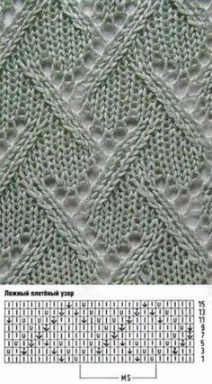 Find and save knitting and crochet schemas, simple recipes, and other ideas collected with love. Lace Knitting Patterns, Knitting Stiches, Knitting Charts, Lace Patterns, Knitting Designs, Knitting Needles, Knitting Projects, Hand Knitting, Stitch Patterns