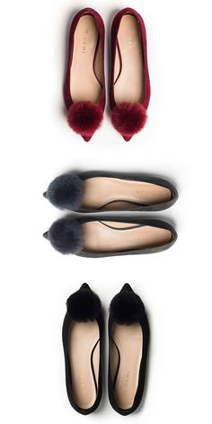 How Cute Are These Pom-Pom Flats? http://ridgelysradar.com/2016/12/a-few-of-my-favorite-things.html #pompom #flats #acessories @RidgelysRadar