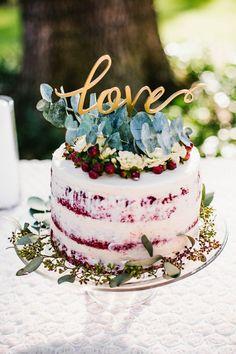 Znalezione obrazy dla zapytania naked cake red