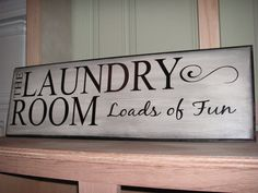The Laundry Room  Loads of Fun Sign by TheDoodlingBug on Etsy, $34.00