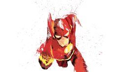 Herunterladen hintergrundbild flash, der superheld, film, held, kunst