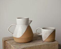 Two Tone Ceramics, Ceramics 01, Ceramics Pitcher, Clay Pitcher, Glaze Ceramics, Ceramics Design, Ceramics Google, Glaze Unglazed, Wax Resist Ceramics