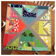Quilted, bound and done on another MX Baby quilt