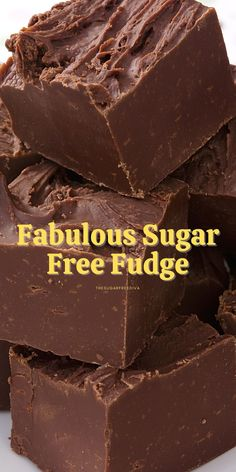 Sugar Free Fudge, Sugar Free Deserts, Sugar Free Baking, Sugar Free Sweets, Sugar Free Candy, Sugar Free Chocolate, Sugar Free Recipes, Sugar Free Frosting, Easy Chocolate Fudge