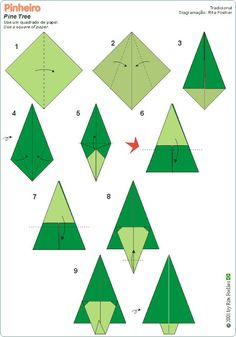 Dennenboom vouwen met kleuters / dobradura pinheiro